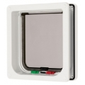 Pet Mate Cat Mate Cat Door Flap 4 Way Locking with Liner White