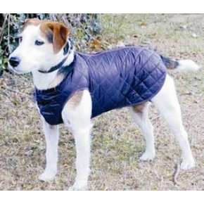 """Cosipet 14"""" -35cm Navy Blue Quilted Step in Suit Dog Coat"""