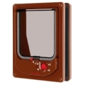 Pet Mate Cat Mate Magnetic Cat Flap Door Brown