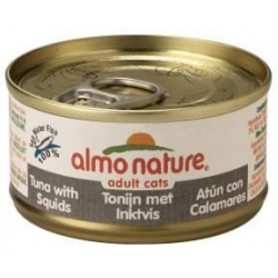 Almo Nature Cat Tuna And Squid 70g Jelly Can