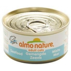 Almo Mixed Seafood Natural 70g Cat Food Can