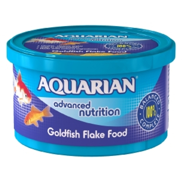 Aquarian goldfish 25g flakes for Fish food bank