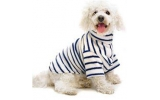 Cosipet Fleece Blue Stripe Dog Coat 24""