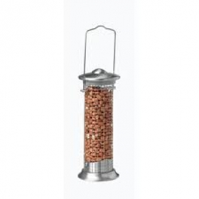 Harrisons Brushed Steel Peanut Feeder 20cm