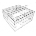 Harrison Sandford Square Small Animal/Chicken Run 120x120x60l