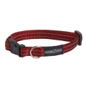 Buster gear Nylon reflective adj. collar red 15mm x28-40cm
