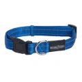 Buster gear Nylon reflective adj. collar blue 10mm x28-40cm