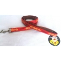 Dogmatic  Lead with Padded Cushion Webbing Red 20 mm x 1.2 mtr