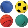 "Assorted Sports Ball 2.5"" Floaties Dog Toy My Pet"