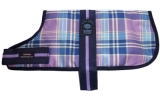 "Animate 20"" Padded Fashion Line Lilac Check Dog Coat"