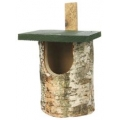 CJ Birch Log Nest box Open Front