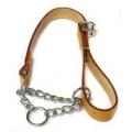 "Ancol Heritage Chain & Leather Check Collar Tan 60cm - 24"""