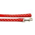 Ancol nylon  lead  polka dot red  100cm x 19mm