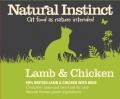 Natural Instinct Natural Chicken And Lamb Cat Food 2 X 500g Frozen