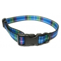 Ancol Nylon Collar Blue Tartan Adjustable 45-70cm