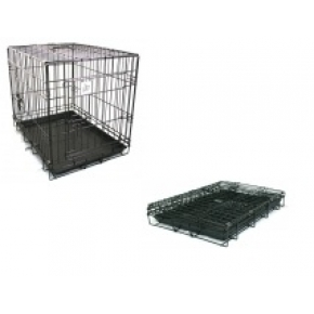 "Dog Life Dog Crate Small Two Door Black 24"" x 17""x 20"" 60 x 42.5 x 51cm"