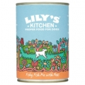 Lilys Kitchen Dog Food Fishy Fish Pie with Peas 400g