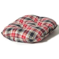 "Large Red & Grey Cushion Dog Bed - Danish Design Lumberjack 33"" - 84cm"
