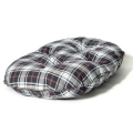 """Large White & Navy Cushion Dog Bed - Danish Design Lumberjack 33"""" - 84cm"""