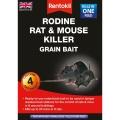Rentokil Rodine Rat & Mouse Killer Grain Bait - 4 Sachet