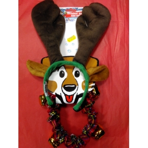 Doggy Things Antlers And Plaid Christmas Collar Small / medium