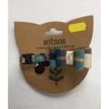 Sotnos Kitty Bow Blue Tartan Cat Collar With Brown