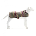 Random Recycled Stripe Dog Coat Medium With Fleece Inner Tweedmill Textiles