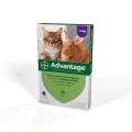 Advantage 80 Flea treatment Over 4kg Large Cat and Rabbit 4 pipette