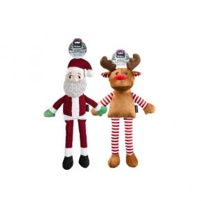 Webbox Festive Christmas Dog Reindeer Or Santa Toy