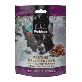 Webbox Festive Dog Meaty Treats Pigs In Blanket Flavour 120g
