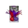 Webbox Festive Cat Twin Feather Balls